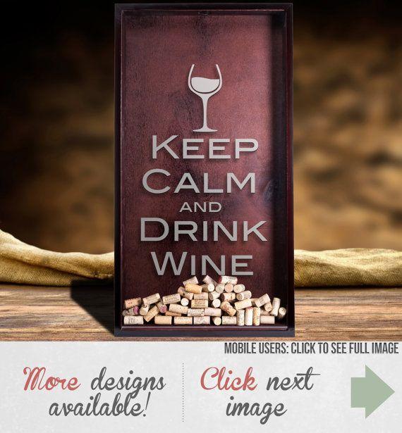 Large Wine Cork Holder  Handmade Shadow Box by EverythingEtchedAZ