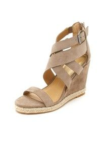 Casual Dolce Vita sandals, styled with crisscross suede straps. Braided jute trims the platform. Exposed back zip. Covered, wedge heel. Synthetic sole. Leather: Cowhide. Imported, China. This item cannot be gift-boxed. Measurements Heel: 3.5in / 90mm