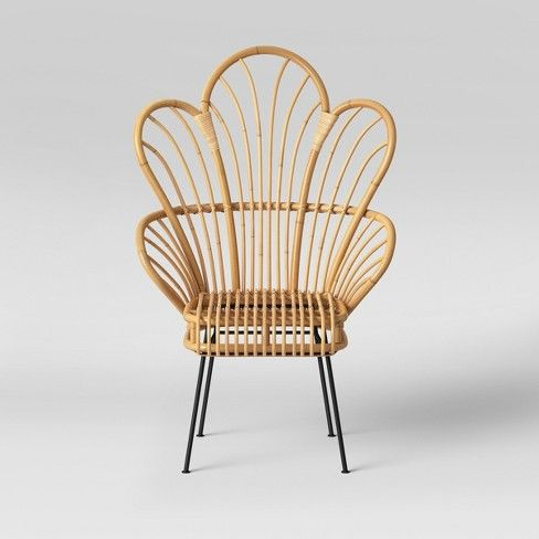 Avocet Rattan Fan Back Accent Chair Opalhouse For Our
