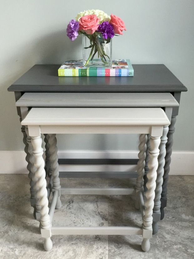 Nesting Tables {guest Post}. Painted Side TablesFurniture MakeoverDiy ... Part 59