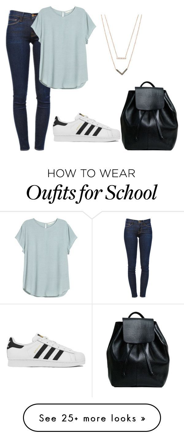 """""""school day"""" by fashionlover4562 on Polyvore featuring Frame Denim, H&M…"""