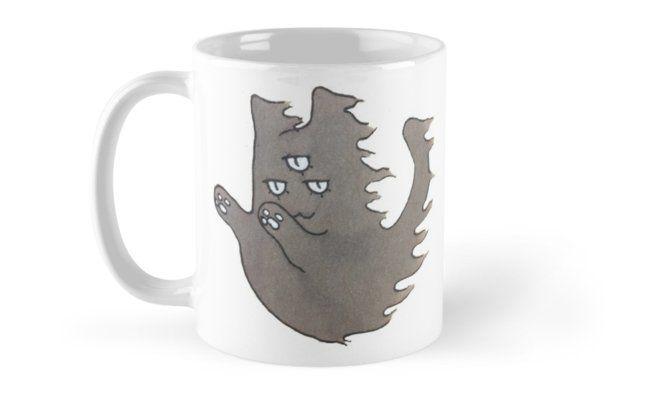 """Ghost Cat"" Mugs by ThreeEyedKat | Redbubble"