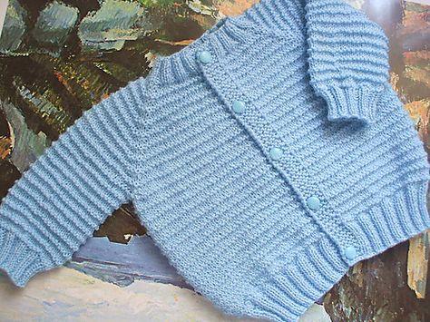 Ravelry: Top Down Seamless Raglan Baby Sweater (Garter Ridge Version) pattern by Carole Barenys