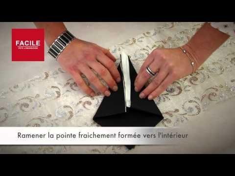 31 best pliage de serviettes en papier images on pinterest napkin folding diy origami and crafts. Black Bedroom Furniture Sets. Home Design Ideas
