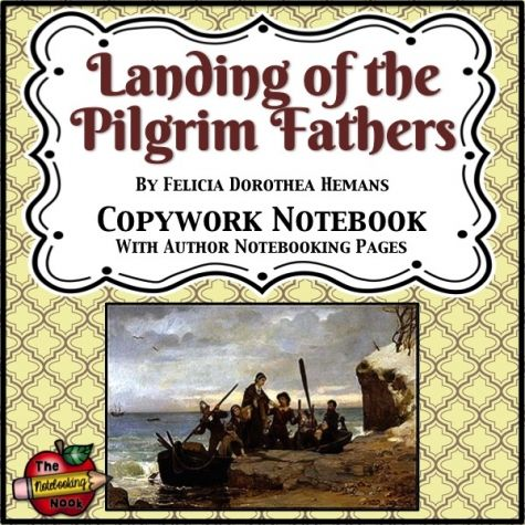 Patriotic Poems: Landing of the Pilgrim Fathers Copywork Notebook                                                                                                                                                                                 More