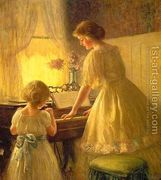 The Piano Lesson 1895  by Francis Day