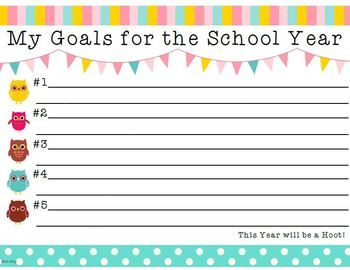 You've made your plans for the upcoming school year. Now it's your students' turn! They can use this goal setting printable to prioritize their most important goals for the year. Free