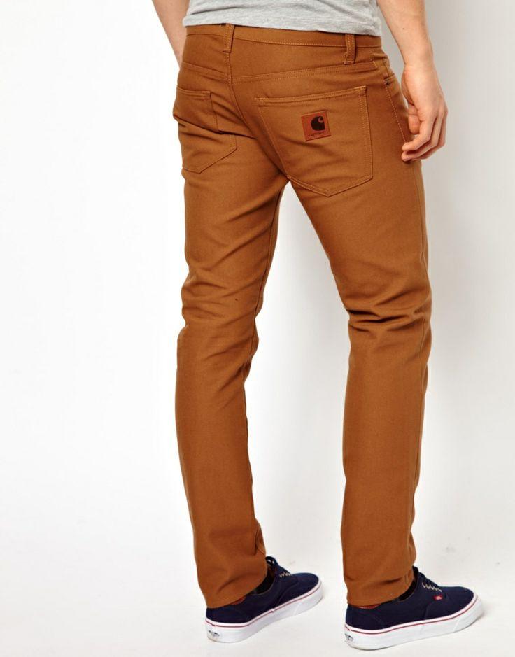 Carhartt   Pantalones de corte slim tapered de lona Buccaneer de Carhartt en ASOS
