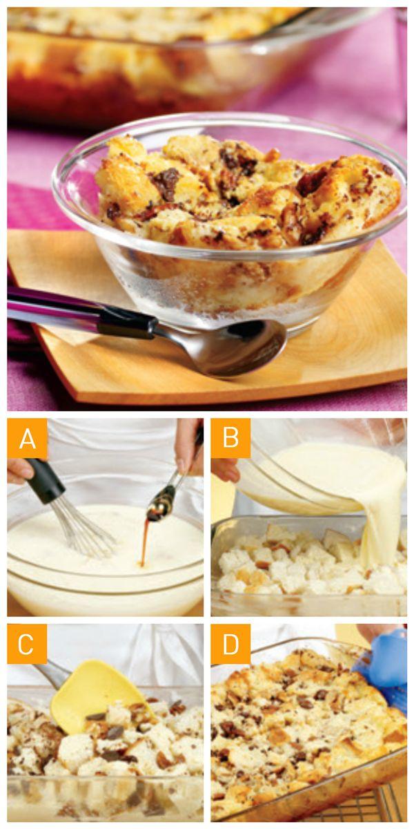 Découvrez comment faire le classique #pouding au pain en 4 étapes simples!