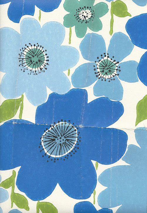 marimekko wallpaper 1969.