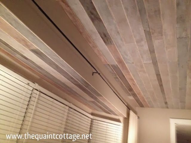 17 best images about diy on pinterest how to paint for Faux wood ceiling planks