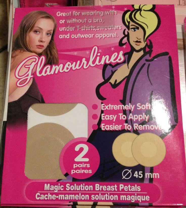 Breast Petals Nipple Cover Pasties Concealer Adhesives Lingerie Bra Pad Nude 2pr #Glamourlines