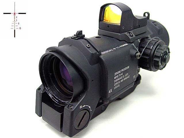 4x Elcan SpecterDR Type Red Dot Scope w/OP Dot Sight Black