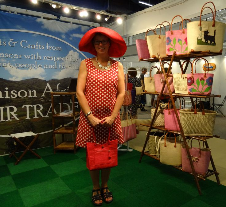 It's Fairtrade at Formex - and ready-in-red. #Formex #fairtrade #fairfashion