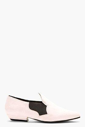 ACNE STUDIOS Rose pink SUEDE cut out ALMITA Flats