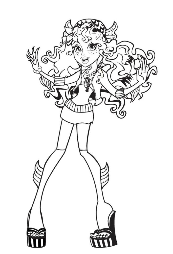 happy lagoona blue coloring pages monster high coloring