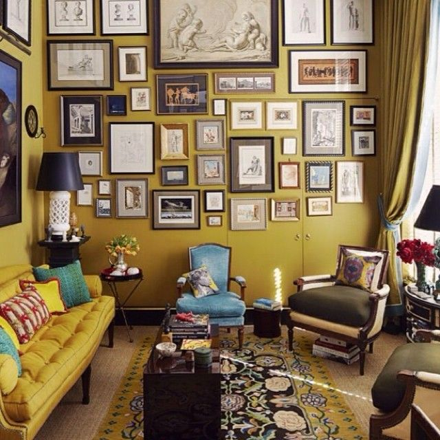 Living In A Jewel Box Bill Richards Gorgeously Grand Small Space House Beautiful Darling Yellow Sofa Walls Antique Black Carpet