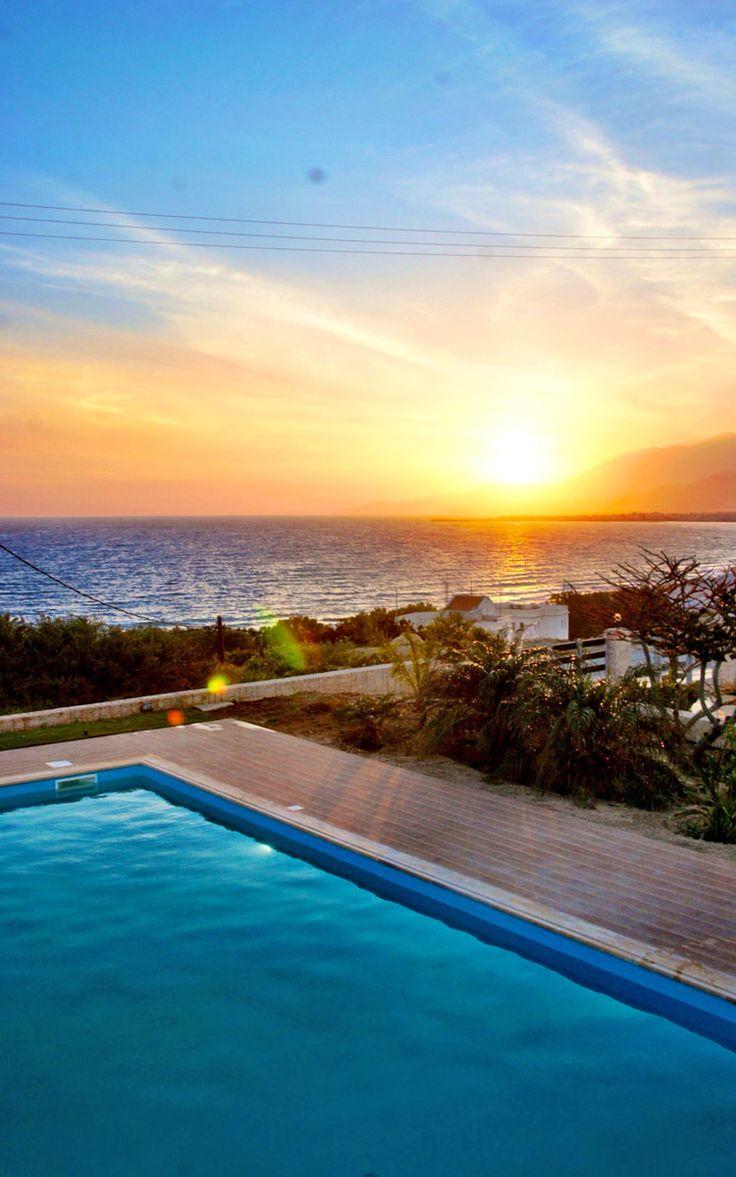 Sunset from Ierapetra, Lasithi - Villa Panorama