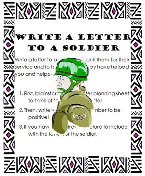 what to write in a letter to a soldier Want to do something more significant with your family this remembrance day than merely having a day off how about writing to a soldier if.