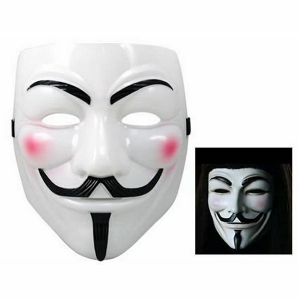 V for Vendetta Mask Party Fancy Costume Guy Fawkes Halloween Anonymous Mask