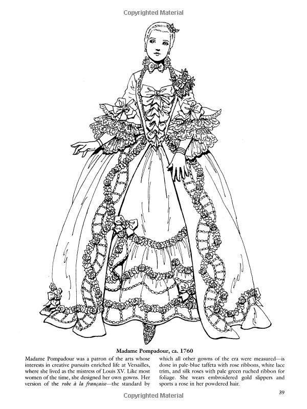 French Baroque And Rococo Fashions Dover Fashion Coloring Book