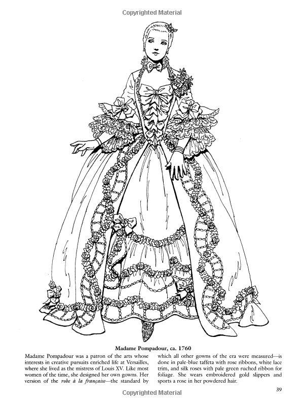 French Baroque And Rococo Fashions Dover Fashion Coloring Book