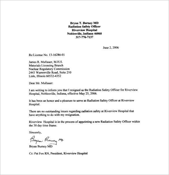Letter Of Resignation Template Pdf from i.pinimg.com