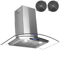 "AKDY 30"" Wall Mount Ventless Range Hood 760 CFM - AWRD530"