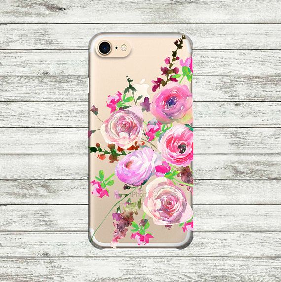 Flowers iPhone 7 Plus clear case iPhone 6 6 Plus case iPhone