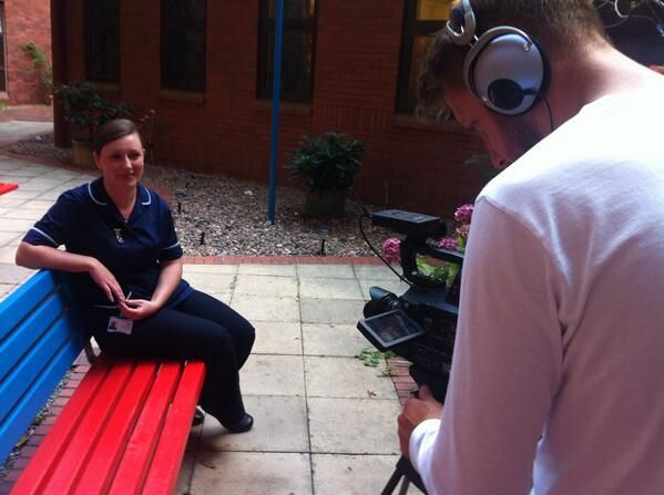 Sister Gemma being interviewed