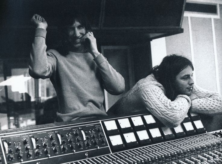 Pink Floyd at AIR Studios recording Meddle in 1971 from the book Pink Floyd - The Black Strat