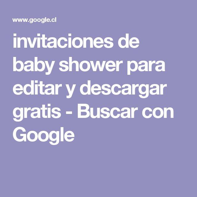 invitaciones de baby shower para editar y descargar gratis - Buscar con Google