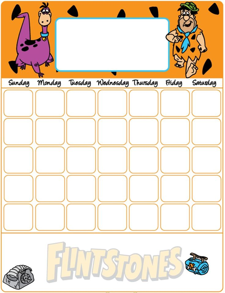 Blank Calendar Cartoon : Best images about flintstones and the spin offs on