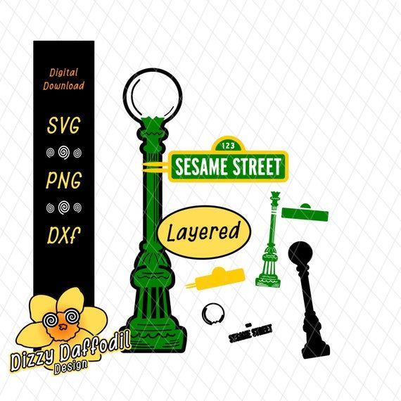 Sesame Street Lamp Pole Svg Dxf Sesame Street Sign File For Birthday Card For Birthday Invitati Sesame Street Signs Sesame Street Birthday Party Sesame Street