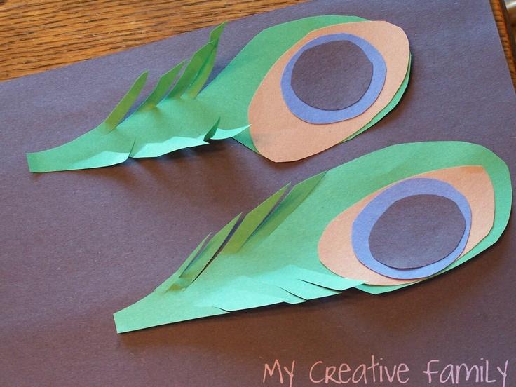 Simple Peacock Feathers... ~ Creative Family Fun