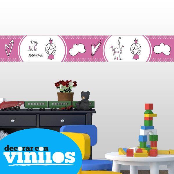 Cenefa Infantil -  Little Princess  Mira más cenefas infantiles en http://www.decorarconvinilos.com/vinilos-infantiles/cenefas-infantiles