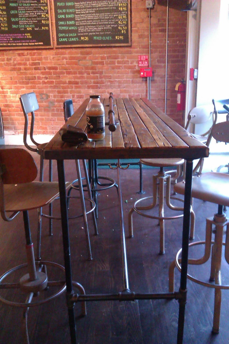 Love to bar height tables @ The Roost in Northampton, MA