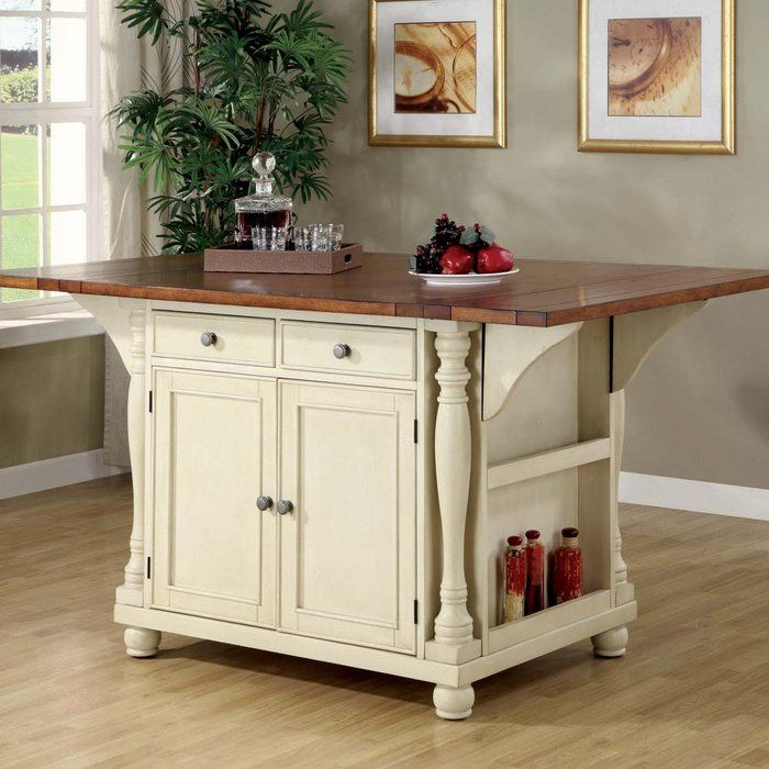 brookstone country cottage style kitchen island like the folding top price is 780 - Country Style Kitchen Island