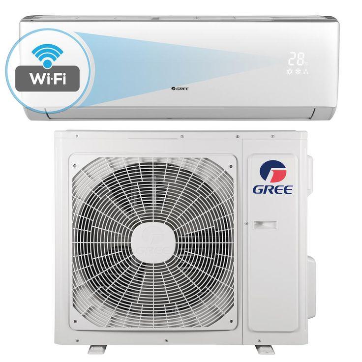 Livo 18,000 BTU 1.5 Ton Wi-Fi Programmable Ductless Mini Split Air Conditioner with Inverter, Heat, Remote 208-230V/60Hz, White