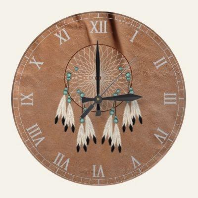 Native American Dreamcatcher Wall Clock by UTeezSF    8346027810244797