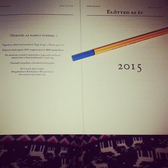 """""""Előtted az év ... 2015 tervezés :) #eviranytu #yearcompass #mogottedazev #elottedazev#theyearahead #evrendezes #yearplanning"""""""