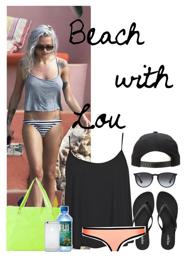 """""""Beach Day w/ Louise Teasdale"""" by laynie1026 ❤ liked on Polyvore featuring Boohoo, Old Navy and Ray-Ban"""