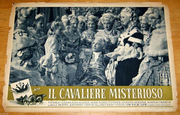 'Il cavaliere misterioso' (1948); regia: Riccardo Freda