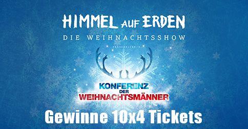 Ticketcorner verlost 10x4 Tickets für die Weihnachtshow Himmel auf Erden! Jetzt mitmachen: http://ow.ly/FBIyR