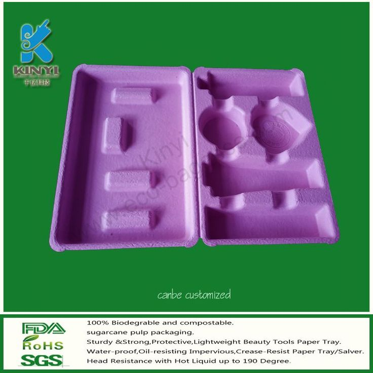 Cosmetic Packaging Trays, Molded Pulp Packaging, Clamshell Packaging