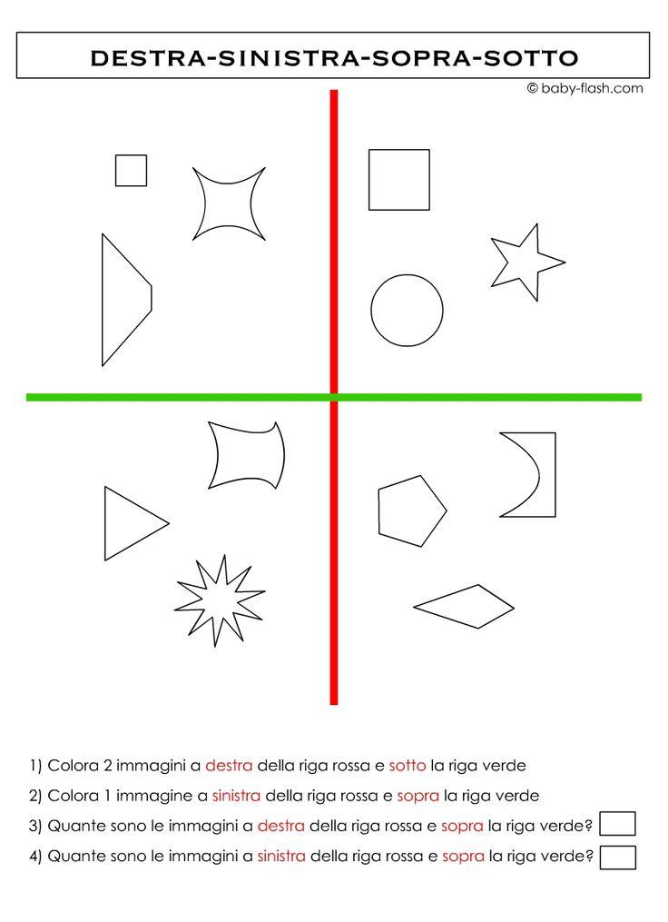 Schede didattiche percezioni spaziali-sopra/sotto-davanti ...