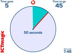 A useful countdown timer which you can set from 10 second up to 6 hours. Great for tests and getting your class tidy on time.