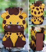 Giraffe Treat Box with Backside