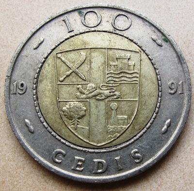 Ghana, 100 cedis, 1991