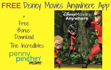 FREE Disney Movies Anywhere service + FREE download of Disney Pixar's The Incredibles! - http://www.pennypinchinmom.com/free-disney-movies-anywhere-app-free-bonus-download/ #disney #free #movies